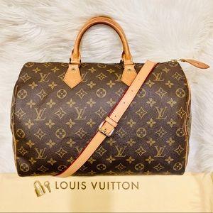 Authentic Louis Vuitton Speedy 35 #4.6bhj